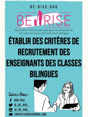 05 Établir des critères de recrutement des enseignants des classes bilingues
