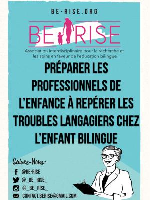 08 Préparer les professionnels de l'enfance à repérer les troubles langagiers chez l'enfant bilingue