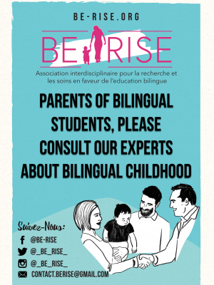 Parents of bilingual students, please consult our experts about bilingual childhood