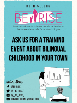 Ask us for a training event about bilingual childhood in your town