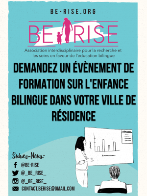 Demandez un évènement de formation sur l'enfance bilingue dans votre ville de résidence !